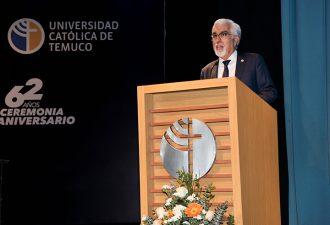 UC Temuco cumple 62 Años con ceremonia presencial