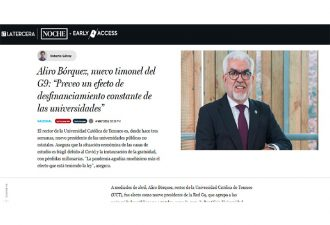 """04.05.2021 Aliro Bórquez, nuevo timonel del G9: """"Preveo un efecto de desfinanciamiento constante de las universidades"""""""