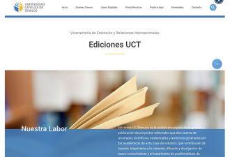 Ediciones UCT estrena nueva página web