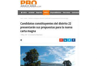 05.05.2021 Candidatos constituyentes del distrito 22 presentarán sus propuestas para la nueva carta magna