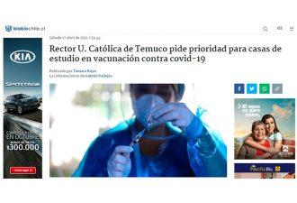 17.04.2021 Rector Universidad Católica de Temuco pide prioridad para casas de estudio en vacunación contra COVID-19