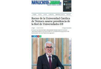 16.04.2021 Rector de la Universidad Católica de Temuco asume presidencia de la Red de Universidades del G9