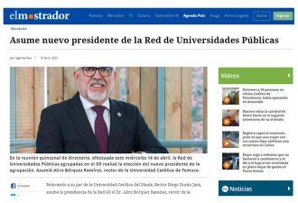 16.04.2021 Asume nuevo presidente de la Red de Universidades Públicas
