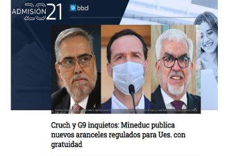 06.05.2021 CRUCh y G9 inquietos: Mineduc publica nuevos aranceles regulados