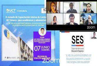 Contraloría de la UC Temuco realizó capacitación para académicos y administrativos