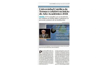 11.04.2021 Universidad Católica de Temuco celebró su Inauguración de Año Académico 2021