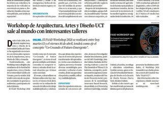 13.04.2021 Worshop de Arquitectura, Artes y Diseño de la UCT sale al mundo con interesantes talleres
