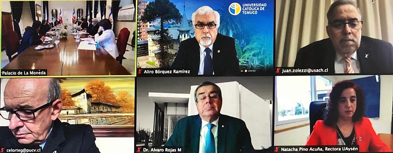 reunion presidente rector videollamada