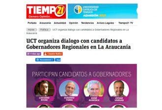 20.03.2021 UCT organiza diálogo con candidatos a Gobernador Regional de La Araucanía