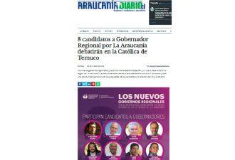 21.03.2021 8 candidatos a Gobernador Regional por La Araucanía debatirán en la Católica de Temuco