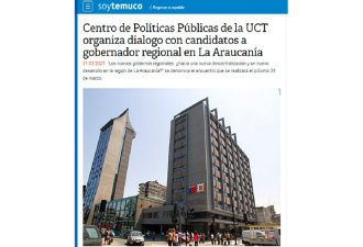 21.03.2021 Centro de Políticas Públicas de la UCT organiza diálogo con candidatos a Gobernador Regional