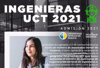 UCT ofrece admisión especial a mujeres que quieran estudiar Ingeniería