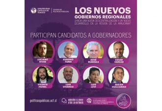 Centro de Políticas  Públicas de la UCT organiza diálogo con candidatos a Gobernadores Regionales en La Araucanía