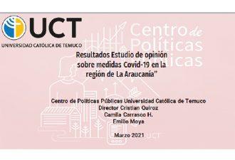 Centro de Políticas Públicas UCT entrega resultados de estudio sobre gestión de medidas COVID en La Araucanía